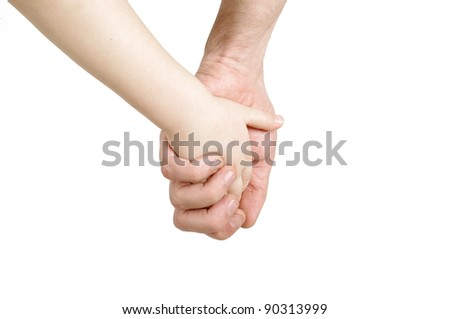 Father and child hands