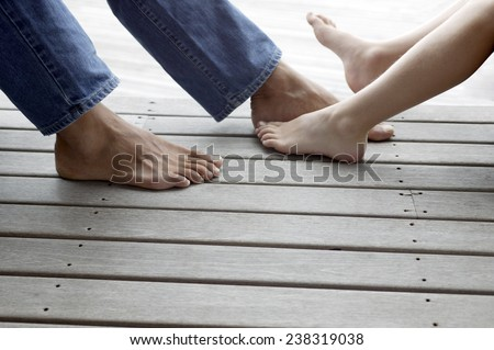 Father and Child's Feet
