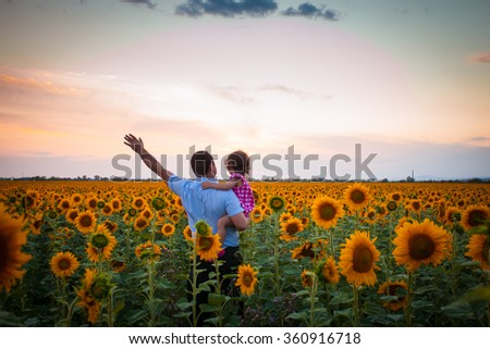 Father and daughter - stock photo