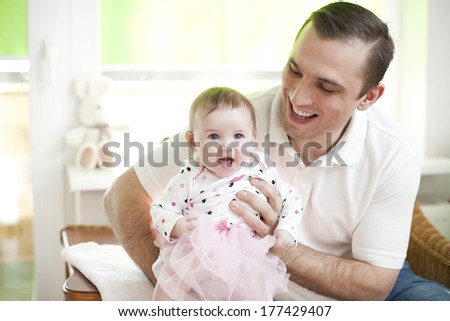 Father and his baby daughter