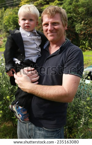 Father and son. - stock photo