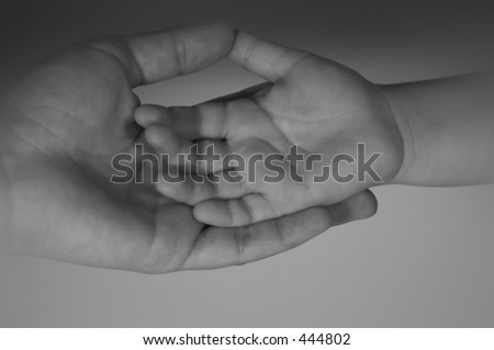 father and son hands