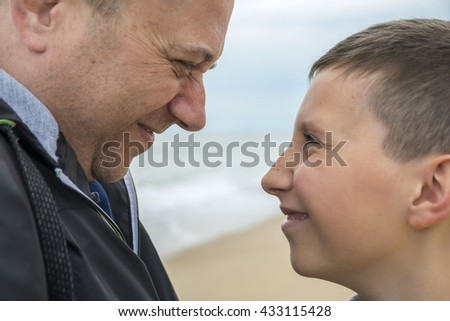 Father and son - people expression