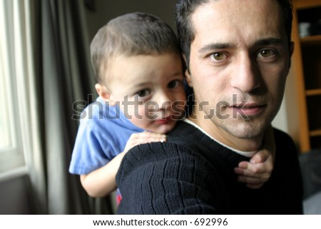 Father and Son Time - Self Portrait - stock photo