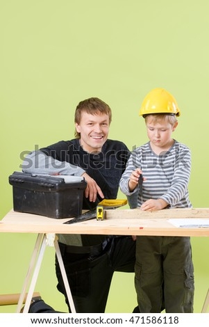 father and son to build together
