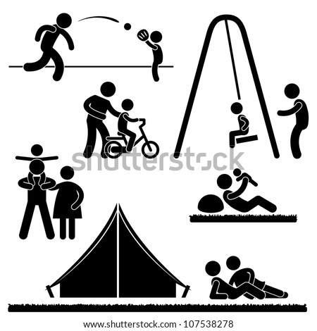 Father Dad Daddy Son Family Parent Parenthood Fatherhood Icon Symbol Sign Pictogram - stock photo
