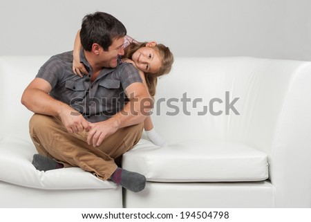Father's day series: Father and daughter love - stock photo