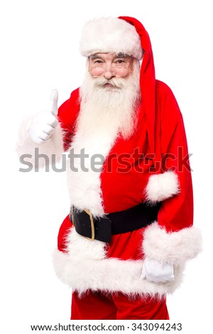 Father santa wishing all the best