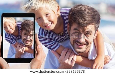 Father, Son, Child. - stock photo