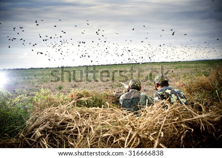 father sun hunting - stock photo