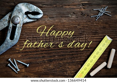 fathers day card with text