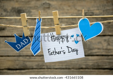 Fathers day greeting card or background - stock photo