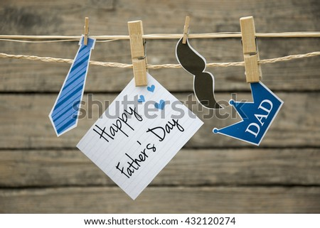 fathers day greeting card or background. - stock photo