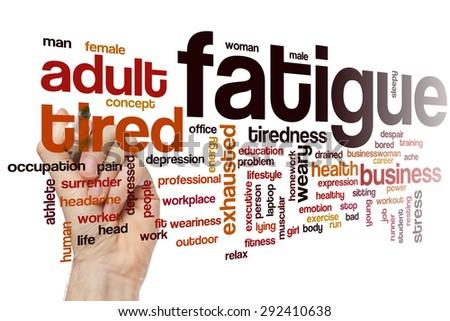 Fatigue word cloud concept - stock photo