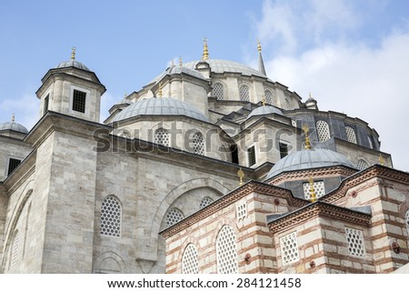 Fatih Mosque in district of Istanbul, Turkey.