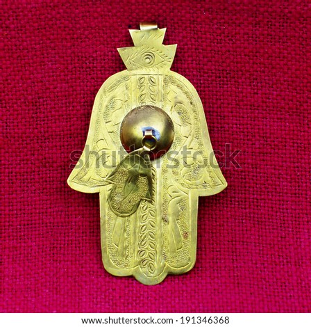 Fatima hand.Amulet from Middle East and North Africa - stock photo