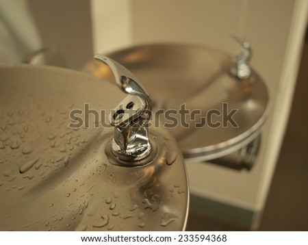 Faucet of drinking water  - stock photo