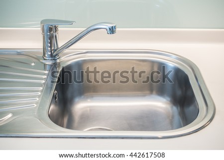 faucet sink and water tab decoration in kitchen room interior. beautiful ideas. Home Design Ideas
