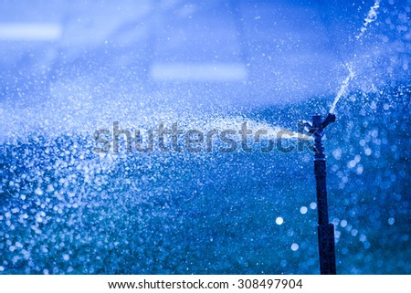 Faucet water spray. - stock photo