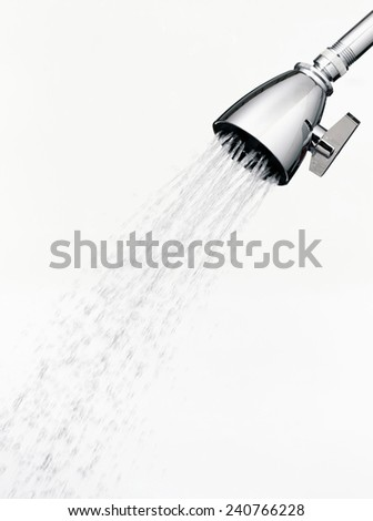 faucets of a shower  - stock photo