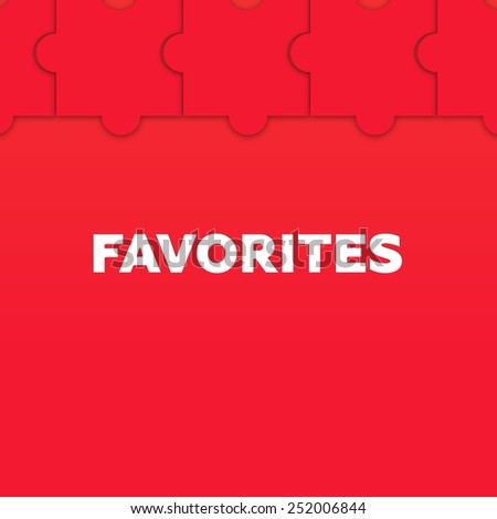 FAVORITES - stock photo