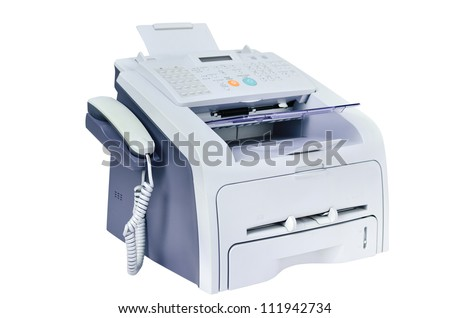 Fax and Telephone for office - stock photo