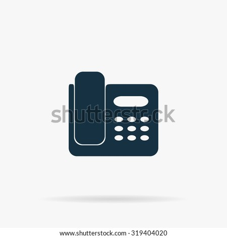 Fax machine. Flat web icon or sign on grey background with shadow. Collection modern trend concept design style illustration symbol - stock photo