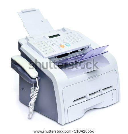 fax scanner printer machine into all stock photo edit now