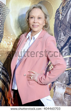 Faye Dunaway at the Los Angeles premiere of 'The Huntsman: Winter's War' held at the Regency Village Theatre in Westwood, USA on April 11, 2016.