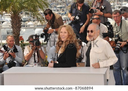 "Faye Dunaway & director Jerry Schatzberg at the photocall for their movie ""Puzzle of a Downfall Child"" at the 64th Festival de Cannes. May 11, 2011  Cannes, France Picture: Paul Smith / Featureflash"