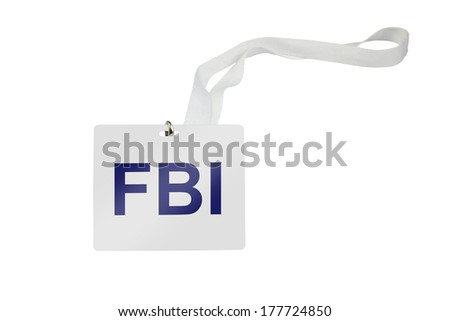 FBI labeled pass isolated on white background - stock photo