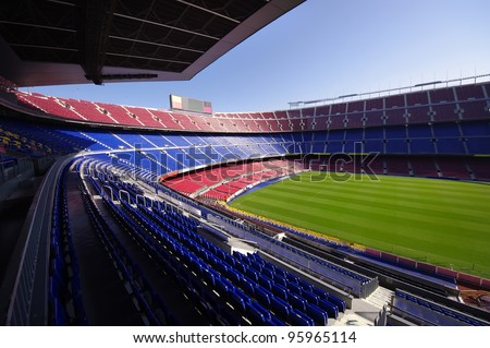 FC Barcelona (Nou Camp) football stadium - stock photo