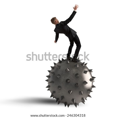 Fear of falling and failure in business - stock photo