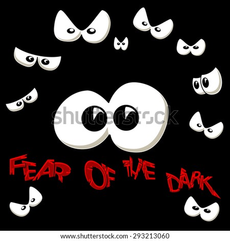 Fear of the dark - stock photo