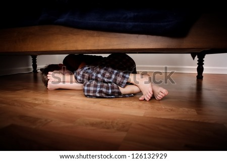 Image result for images of hiding under bed