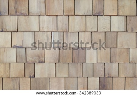 Feature solid timber plank wall in light wood