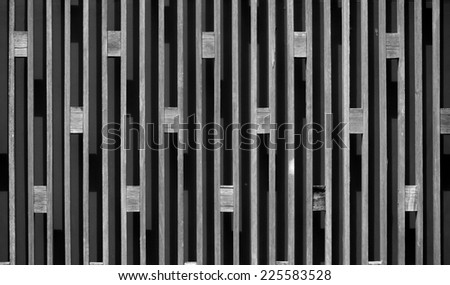 Feature textured wooden wall - stock photo