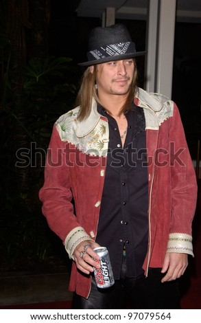 Feb 12, 2005; Beverly Hills, CA: KID ROCK at record mogul Clive Davis' Annual pre-Grammy party at the Beverly Hills Hotel. - stock photo