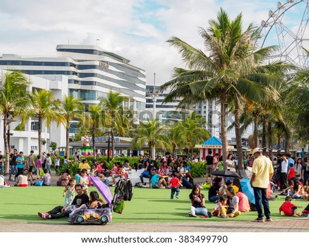 Feb 20, 2016 Mall of Asia , Philippines Sunday Afternoon - stock photo