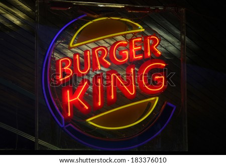 "FEBRUARY 15, 2014 - BERLIN: the logo of the brand ""Burger King"", Berlin."