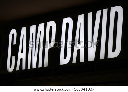 "FEBRUARY 15, 2014 - BERLIN: the logo of the brand ""Camp David"", Berlin."