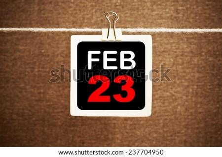 February 23 Calendar. Part of a set - stock photo