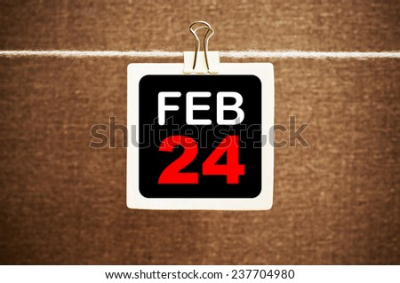 February 24 Calendar. Part of a set - stock photo