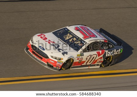 February 17, 2017 - Daytona Beach, Florida, USA:  Danica Patrick (10) takes to the track for a practice session for the Advance Auto Parts Clash at Daytona in Daytona Beach, Florida.