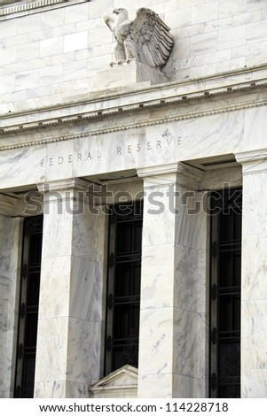 FED, headquarters of the Federal Reserve in Washington, DC, USA - stock photo