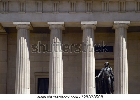 Federal Hall National Memorial, New York City, New York, USA