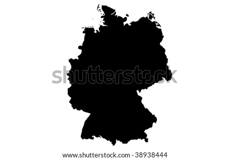 Federal Republic of Germany - white background - stock photo