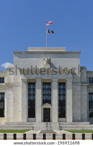 Federal Reserve Building in Washington DC, United States  - stock photo