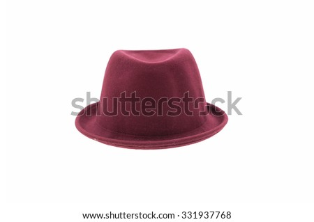 fedora hat isolated  - stock photo