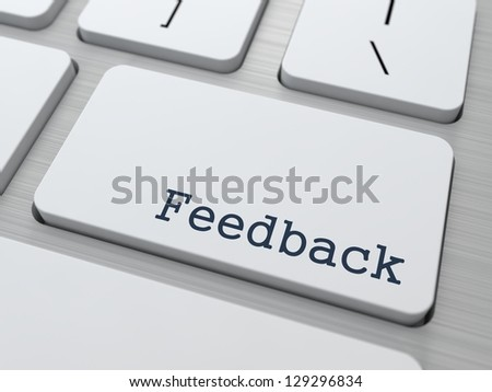 Feedback Concept. Button on Modern Computer Keyboard with Word Feedback on It. - stock photo